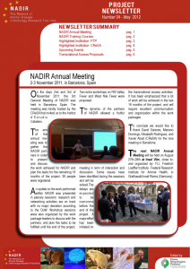 Newsletter (first page)